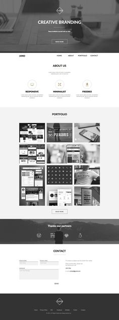 Juno Minimal Portfolio Muse Theme --- Juno is a One page Adobe Muse Template with a professional look. Design Web, Web Design Quotes, Id Design, Layout Design, Webdesign Inspiration, Web Inspiration, Website Layout, Web Layout, One Page Website
