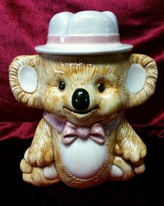Vintage Koala Bear Cookie Jar made in USA by Treasure Craft