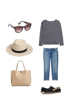 Outfit from a Spring packing list on a budget. 20 items, 10 outfits, 1 carry on, at a price that you can afford! Every item under $50.