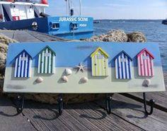 Naive Beach Hut Style Coat Rack