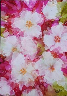 "Pretty in Pink Alcohol Ink on 5x7"" yupo paper By Jewel Buhay"