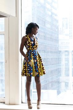 African clothes + modern touch = seriously cute