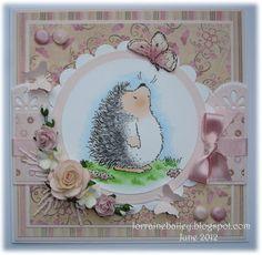 Mrs B's Blog:lorrainebailey.blogspot.co.uk,  Penny Black - HedgeHog Stamp