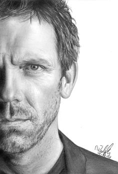 Gregory House MD favorite-shows House Sketch, House Drawing, Dr H, Gregory House, House Md, Hugh Laurie, British Actors, Black House, Favorite Tv Shows