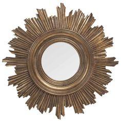 Cool Spiegel rund goldfarben D cm BURTON