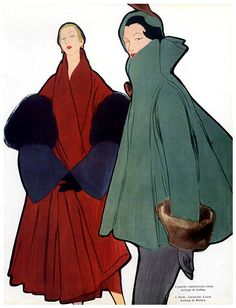 Rene Gruau 1909 - 2004 for Jacque Fath - Gruau's fluid line, bold use of colour, composition and psychology make his work stand out. He is undoubtedly the best fashion artist of the mid 20th century; he was without peers