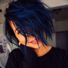 Hair Color For Women, Short Hair Cuts For Women, Cool Hair Color, Hair Colors, Natural Black Hair Color, Blue Black Hair Color, Red Color, Navy Blue Hair, Color Tones