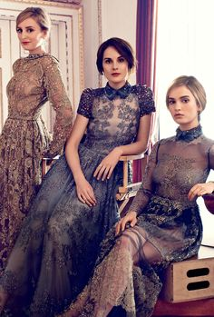Downton Abbey Ladies by Alexi Lubomirski for Harper's Bazaar UK August 2014