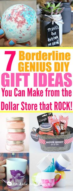 7 Dollar Store DIY Gifts That You Would Want to Receive - XO, Katie Rosario Looking for new gift ideas that won't break your budget? Here is a borderline genius ideas that shows you how to make DIY gifts from the Dollar Store. Diy Gift For Bff, Diy Gifts For Him, Diy Gifts For Friends, Diy Gifts For Boyfriend, Diy Gifts On A Budget, Ideal Boyfriend, Fun Gifts, Surprise Gifts, Dollar Store Gifts