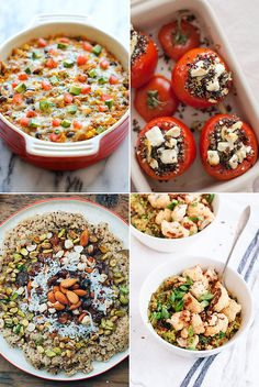 Versatile, nutty, and filling, quinoa, the little pseudograin that could, is a modern-grain pantry staple. Swap it out for rice as a neutral side for meat or vegetables, or try one of these versatile recipes ranging from quinoa-stuffed tomatoes, to a cheesy enchilada-inspired casserole, to a rainbow-bright, veggie-packed salad.