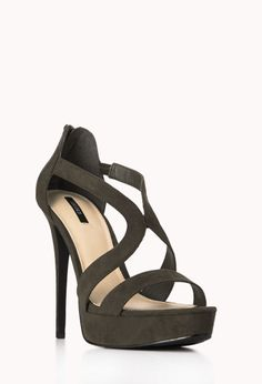 Clear Cut Stiletto Sandals | FOREVER21 Step it up #Heels #HighHopes #FauxSuede