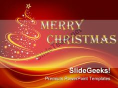Merry Christmas Festival PowerPoint Background And Template 1210 #PowerPoint #Templates #Themes #Background