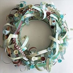 Try an Artsy Design~~awesome job of just paper!! Could try with ribbons...