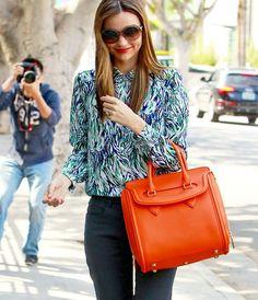 Orange Heroine Bag by Alexander McQueen