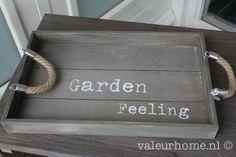 Dienblad Garden Grey | Dienbladen & Schalen | Valeur Home Decoration