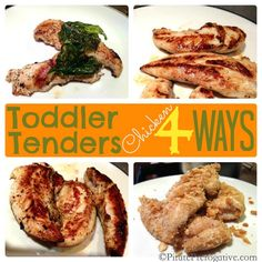 Toddler Chicken Tender 4 Ways