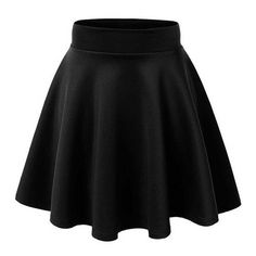 ACEVOG Women's Stretch Waist Flared Skater Skirt Dress Mini Skirt 15... ($10) ❤ liked on Polyvore featuring skirts, mini skirts, short skirts, elastic waistband skirt, flared skirt, short mini skirts and mini skirt
