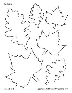 oil and blue Fall Leaf Line Drawing
