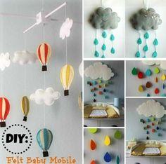 Diy baby mobile - 22 Simply Splendid Decor Baby Nursery Ideas to Consider – Diy baby mobile Baby Nursery Decor, Baby Decor, Nursery Room, Nursery Ideas, Diy For Kids, Crafts For Kids, Diy Crafts, Diy Bebe, Felt Mobile