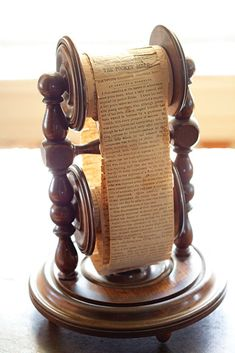 Antique pocket bible scroll at the Chatillon-DeMenil Mansion.