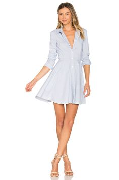 BCBGeneration City Shirt Dress in Dark Navy Combo