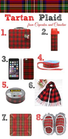Tartan Plaid decor and more including Washi Tape! from cupcakesandcrinoline.com