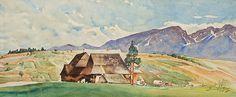 WIDOK NA TATRY OD STRONY PORONINA, 1902