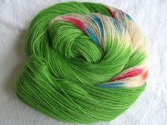 ♥ Sockenwolle 100g ♥ Schurwolle 75% ♥ Handgefärbt ♥ Made by Aleinung ♥ (093)
