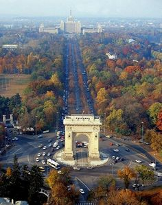 """Fall, in Bucharest - Bucharest was once known as the """"Little Paris"""". Places To Travel, Places To See, Travel Destinations, Wonderful Places, Beautiful Places, Romania Travel, Romania Tourism, Little Paris, Bucharest Romania"""