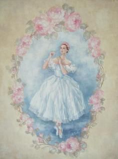 Love vintage ballerina.