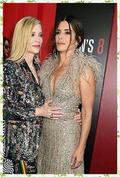 SB♥ Best Female Actors, Elizabeth 1998, Oceans 8, Golden Globe Award, Cate Blanchett, Sandra Bullock, Awards, Actresses, Formal Dresses