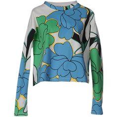 Marni Sweatshirt (490 BAM) ❤ liked on Polyvore featuring tops, hoodies, sweatshirts, white, flower print tops, floral print tops, marni top, long sleeve sweatshirt and floral sweatshirts