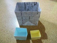 チラシで折る便利袋 - YouTube