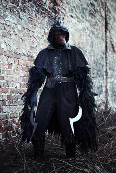 bloodborne raven hunter cosplay dark souls