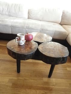 Stump Oak Coffee Table by iNg Furniture on Etsy *make sure Danny sees this one!!!