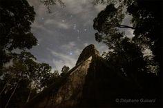 Tikal Temple V under constellation Orion
