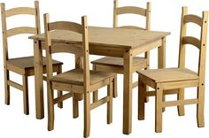 Cheap Italian Bedroom & Dining Room Furniture Set at Furniture Direct UK. Shop online for cheap bedroom, living & dining room furniture with off and Free Delivery*. Pine Table And Chairs, Buy Dining Table, Oak Table Top, Table And Chair Sets, Kitchen Tables, Dining Sets, Diy Kitchen, Dining Chairs, Furniture Direct