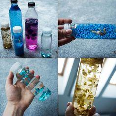 Less waste zabawka ekologiczna dla niemowląt i starszych dzieci. Relaksuje i wycisza. Recyklingowa zabawka.  #recykling #zabawa #zabawka #dziecko #niemowlę #diy #lesswaste #rękodzieło #handmade #diy #mynio #fridiy #butelka #sensory #sensoryczne Voss Bottle, Water Bottle, No Plastic, Drinks, Kids, Handmade, Alcohol, Drinking, Young Children