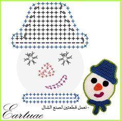 Photo from eartuae Crochet Santa, Crochet Snowman, Crochet Christmas Ornaments, Holiday Crochet, Crochet Gifts, Diy Crochet, Crochet Toys, Crochet Diagram, Crochet Chart
