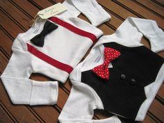 Black Vest Onesie & Bow Tie Onesie with by LaddiesAndLasses, $47.00
