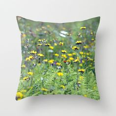 Summer Field Vermont Pillow Cover by BacktoBasicsPillows on Etsy