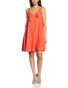 UK 8, Red - Rouge (Red), Molly Bracken Women's P253e16 Sleeveless Dress NEW