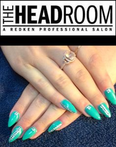 Nails by Sherry Salons, Turquoise, Engagement Rings, Nails, Jewelry, Jewellery Making, Lounges, Ongles, Green Turquoise