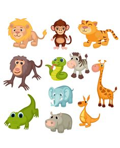 Images of zoo animals clipart - Safari Animals, Cute Baby Animals, Wild Animals, Animals And Pets, Funny Animals, Cartoon Drawings Of Animals, Animal Sketches, Cartoon Pets, Animal Quotes