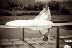 bridal session in downtown Dallas | bridal session in Dallas | creative wedding pictures | creative bridal portraits | bridal portrait in downtown dallas | bridal portrait with water reflection | dallas wedding photographers | dallas weddings