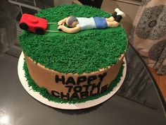 Old man lawn mover cake Dad Birthday Cakes, Creative Cakes, Birthday Decorations, Cake Pops, Cake Ideas, Great Recipes, Lawn, Sweets, Desserts