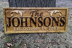 Personalized Lake House Sign Custom Wood Sign Carved Last Name Wooden Signs Home Décor 3D Cabin Rustic Lakehouse Personalized Wedding Gift Established Sign Family Name Sign 5 Year Anniversary Gift >>> For more information, visit image link.