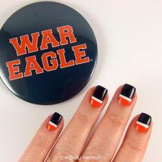 ... Auburn on Pinterest | Auburn tigers, Nail wraps and Auburn university