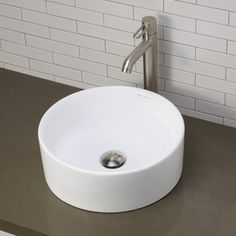 DecoLav D1458CWH Vessel Style Bathroom Sink - White at Ferguson.com 200.38