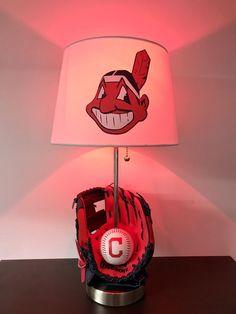Cleveland Indians Lamp Baseball Decor MLB Sports Light Baseball Glove  Nightlight
